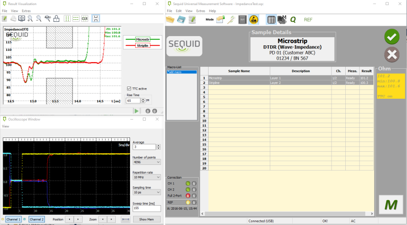 Application software for Sequid TDR devices